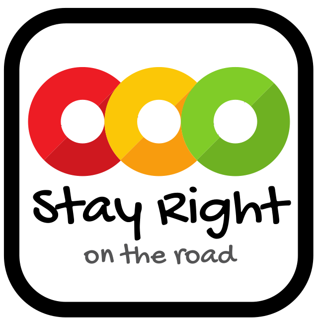 Stay Right Sign Logo